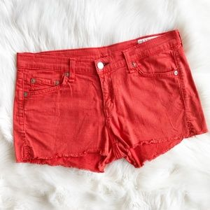 Rag & Bone Orange Denim Cut off Shorts